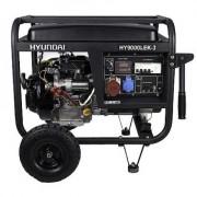 HY9000LEK-3 Hyundai Generator de curent electric trifazat + kit de roti, putere 8 kVA , motor Hyundai