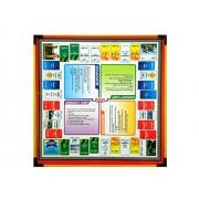 Samaira Sunshine Ludo, Snake Ladder, Tambola, Business Wooden Board Game 2 In 1 Game (Ludo & Business)