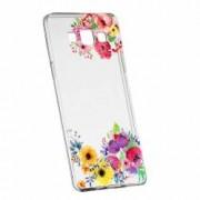 Husa Silicon Transparent Slim Flower Samsung Galaxy A5