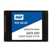DISCO DURO SÓLIDO WESTERN DIGITAL BLUE 3D NAND 500GB - SATA 3 - 2.5' / 6.35CM - LECTURA 560MB/S - ESCRITURA 530MB/S