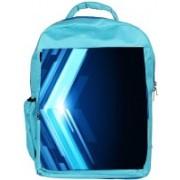 Snoogg Eco Friendly Canvas Blue Pattern Design Designer Backpack Rucksack School Travel Unisex Casual Canvas Bag Bookbag Satchel 5 L Backpack(Blue)