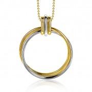 Zinzi ZIC2059 Ketting Cirkels zilver- en goudkleurig 42-45 cm