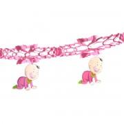 Ghirlanda roz cu bebelusi 1.5 metri