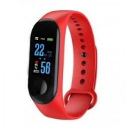 Bratara Fitness MediaTek M3 Fitness Band Display OLED Notificari Pedometru Bluetooth Rosu