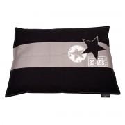 Lex & Max Hondenkussen Star Zwart - 100 x 70cm - Kussenhoes