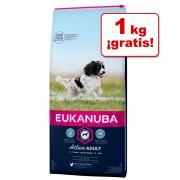 Eukanuba para perros de 12 y 15 kg en oferta: ¡1 kg gratis! - Adult razas medianas y pequeñas con cordero y arroz (11+1 kg)