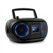 Auna Roadie Smart, boombox, интернет радио, DAB / DAB +, FM, CD плейър, LED, WiFi, bluetooth (KBB-257-RoadieIR BK)