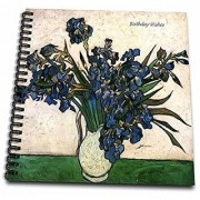 3dRose db_47109_1 Birthday Wishes Iris Flower Flowers Anniversary Wedding Anniversary 25Th Anniversary Faith Hope Drawing Book 8 by 8-Inch