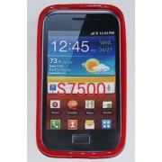 Силиконов гръб ТПУ за Samsung S7500 Galaxy Ace Plus Червен