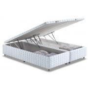 Cama Box Baú Anjos White - Cama Box King Size - 1,93x2,03x0,35 - Sem Colchão
