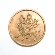 Sri Durga Devi on Tiger Temple Token Coin @ arunrajsofia