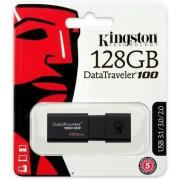 Kingston DataTraveler 100 G3 128GB USB Stick 3.0 - Zwart