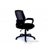 """Mayah """"Smart"""" uredska stolica, naslon za ruke, crno platno, mrežni naslon, crne noge"""