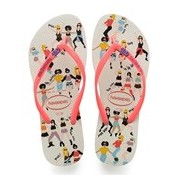 SANDALIA CHINELO SLIM COOL - HAVAIANAS - BRANCO/CORAL NEW