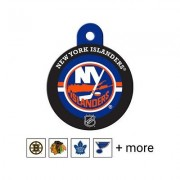 Quick-Tag NHL Circle Dog & Cat ID Tag, Large, New York Islanders