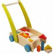 Antemergator din Lemn First Steps Happy Baby - Multicolor