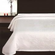 Cuvertură de pat Floral albă, 240 x 260 cm