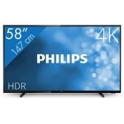 Philips 6500 series 58PUS6504/12 tv 147,3 cm (58'') 4K Ultra HD Smart TV Wi-Fi Zwart