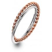 Hot Diamonds Inel de argint de lux cu diamantul drept Jasmine RG DR211 51 mm