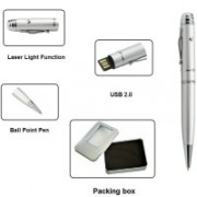KBR PRODUCT 1+1 Combo Designer Ball Pen + USB drive+ Laser Pointer 16 GB Pen Drive(Silver)