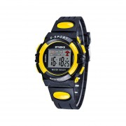 Reloj SYNOKE Impermeable Sport LED Digital Niños-amarillo