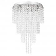 [lux.pro] Осветително тяло, Плафониера Venezia, 54 x Ø 38 cm, Хром, с кристали