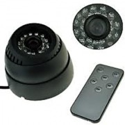 Dome IR Night Vision Micro SD Card TV Out Camera with Remot