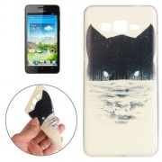 Samsung Galaxy Grand Prime Case, Samsung Galaxy G530, Abstract Wolf Head Pattern TPU Protective Case