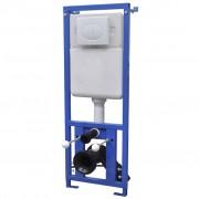 vidaXL WC podomietková nádržka, 11 l, 41x14x(110-125) cm
