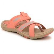 Fuel Women's Girls Coral Beige Slip On Sandals