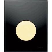 Clapete de actionare pisoar TECE Neagra, buton auriu