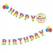 Ghirlanda litere Happy Birthday, 2 m, Herlitz