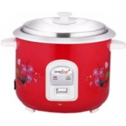 Greenchef RC28R Electric Rice Cooker with Steaming Feature(2.8 L, Red)
