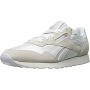 Reebok Men s Royal Nylon Classic Fashion Sneaker White/White/Steel 9 M US