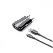 Cellular Line Cellularline USB Charger Kit - Micro USB Cavo e caricabatterie 5W Nero