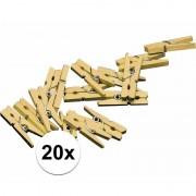 Haza 20 kleine gouden knijpertjes - Hobbydecoratieobject