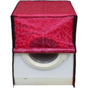 Glassiano Dark Pink Colored Washing Machine Cover For Fully Automatic Front Load 5 Kg to 5.5 Kg Model