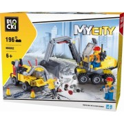 Joc constructie, My City, 2 vehicule constructii, 196 piese Blocki
