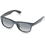 Ray-Ban New Wayfarer RB 2132F anteojos de sol, Black/Top Grey Alcantara, 58 mm