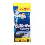 Gillette Blue3 Smooth 6 ks jednorazové žiletky pre mužov
