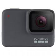 """Екшън камера GoPro HERO7 Silver, камера за екстремен спорт, 4K@30fps, 2"""" (5.08 cm) мулти-тъч сензорен дисплей, microSD слот, USB (Type-С), Wi-Fi, Bluetooth, GPS"""