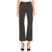 RE/DONE Leandra Ankle Crop in Black. - size 24 (also in 25,26)