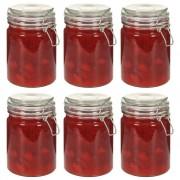 vidaXL Skladovacie poháre s uzatváracími viečkami 6 ks 750 ml
