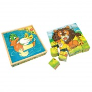 Set cuburi Animale Bino, 25 buc.