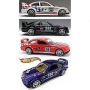 HW Racing BMW M Series 4 Car Set Hot Wheels #146 E36 M3 Race & # 169 2014 New Casting Red White Blue & Black Variants in PROTECTIVE CASES