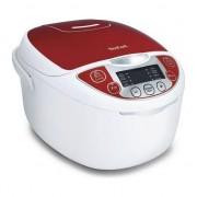 Multicooker Tefal Fuzzy Logic RK705, 600 W, 5 L, 10 Programe, Timer, Alb/Rosu