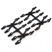 AST Works Active Hobby Crawlers Rod End 20pcs Black for 4WD RC Cars Axial Crawler #AC300
