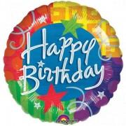 Balon folie 45 cm Happy Birthday Blitz