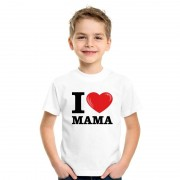 Bellatio Decorations Wit I love Mama t-shirt kinderen