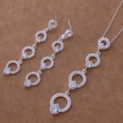 Set placat argint elegant imitatie diamante